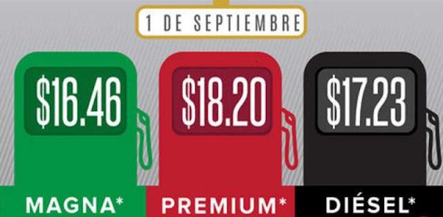 Gracias Peña Nieto, Inicia septiembre con nuevo gasolinazo..