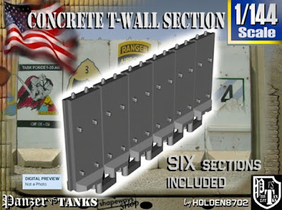 1-144 Concrete T-Wall Section Set picture 1