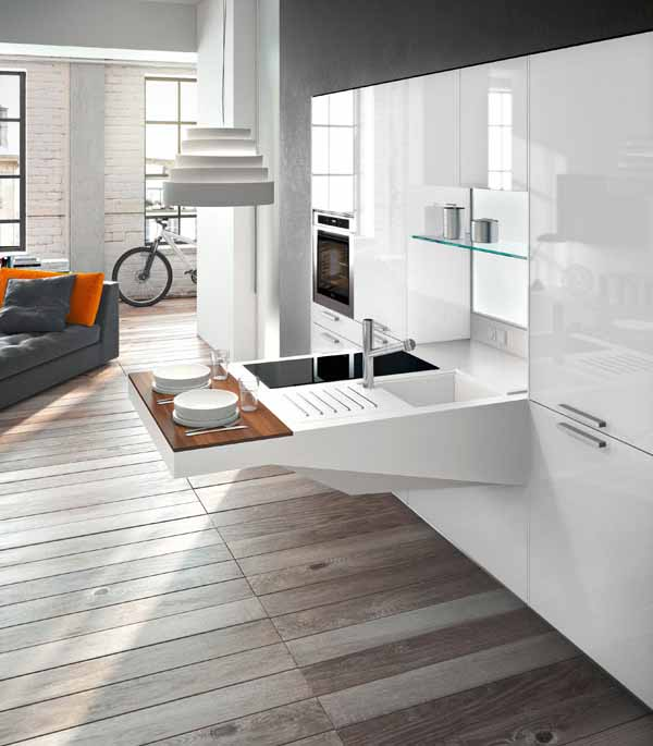 Desain Dapur dan Meja Makan Modern Minimalis Dari Pietro