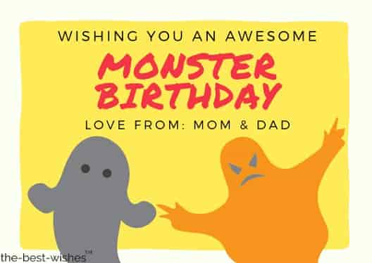 funny birthday wishes from mom and dad to kids