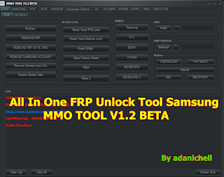 All In One FRP Unlock Tool Samsung MMO TOOL V1.2 BETA