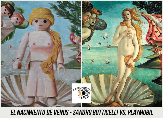 Cuadro-El-Nacimiento-de-Venus-de-Sandro-Botticelli-Hecho-con-Playmobil