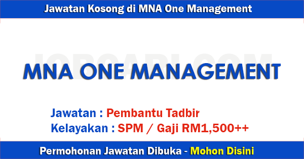 MNA One Management Sdn Bhd