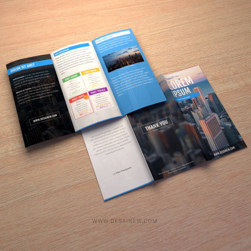 Brochure Mockup free download PSD Adobe Photoshop Blender Inkscape