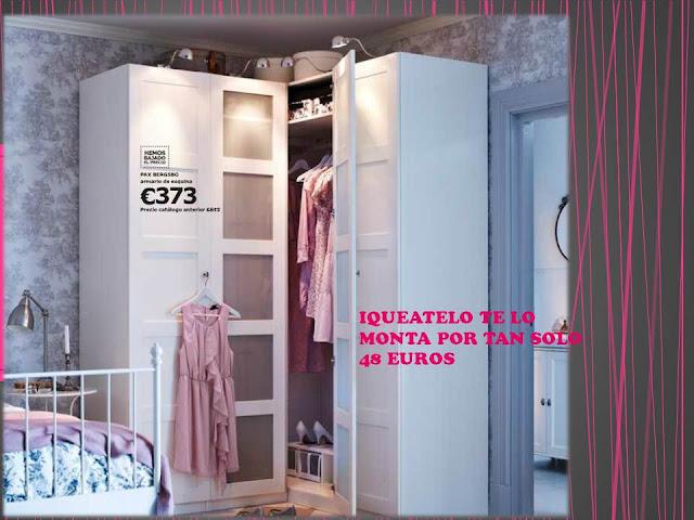 Iqueatelo montaje y transporte desde ikea valladolid enam rate de tu dormitorio - Disena tu armario ...