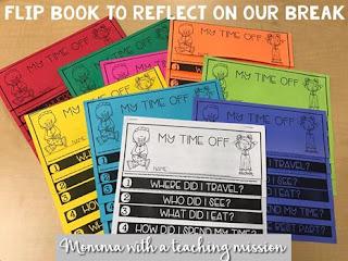 https://www.teacherspayteachers.com/Product/Flipbook-My-Time-Off-Reflection-2888897