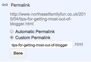 How to change your post URL on blogger