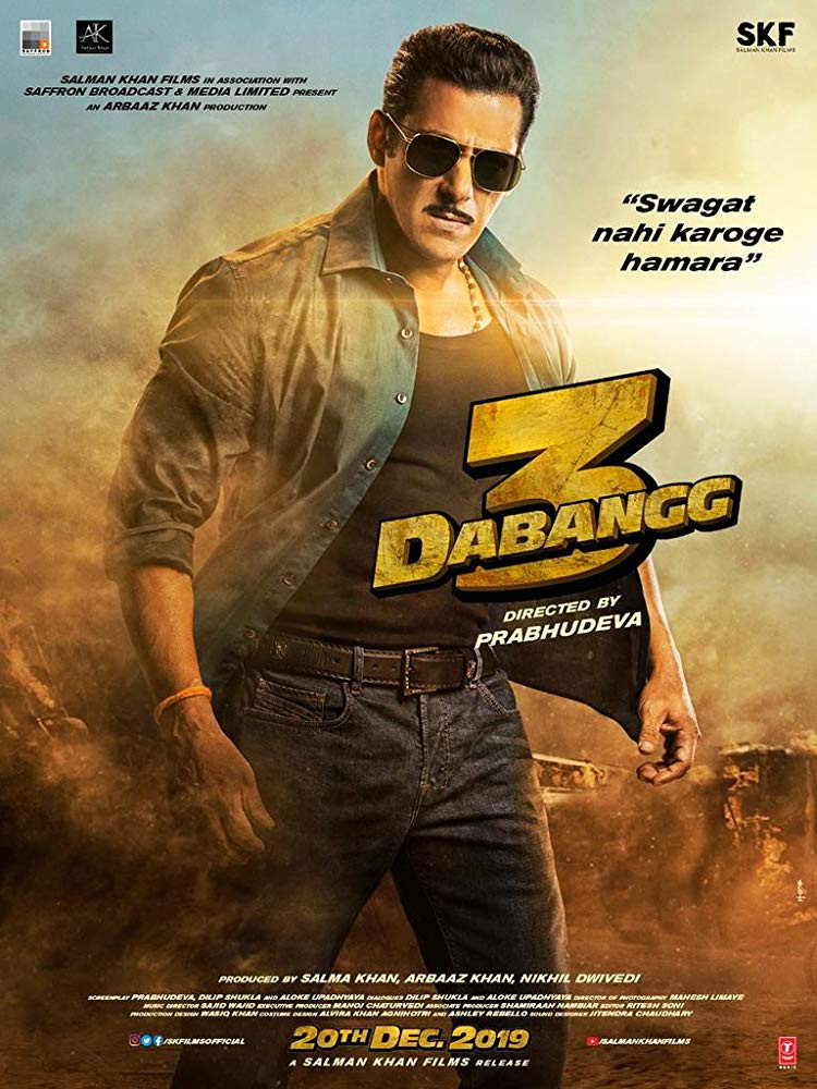 Dabangg 3 (2019) Hindi Movie HDRip 750MB ESubs Free Download