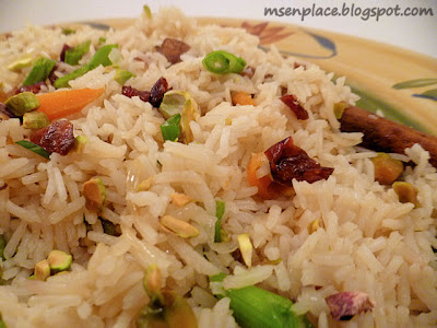 Rice Pilaf w/ Pistachios & Cranberries