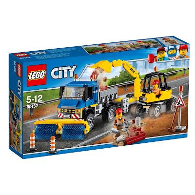 Straßenreiniger und Bagger von lego city