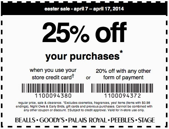Goodys clothing store coupons