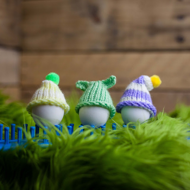 loom knit easter egg cosy pattern, free loom knitting patterns, egg cozy, egg cosy, kids loom knitting crafts