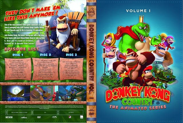 Donkey Kong Country The Animated Series Season 1 DVD Cover