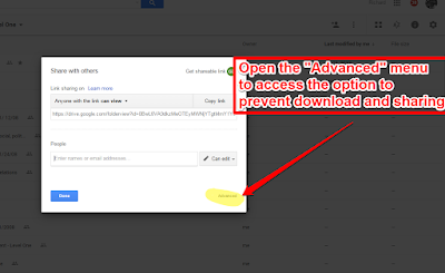 How to Prevent Downloading of Shared Google Docs