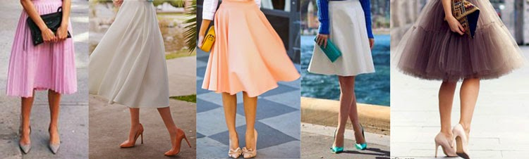 pointy heels and midi skirt styling