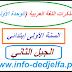 مذكرات اللغة عربية الوحدة الأولى للسنة الاولى ابتدائي الجيل الثاني  2017/2016