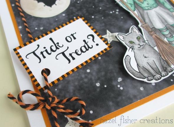 Halloween card close up 2 hazelfishercreations