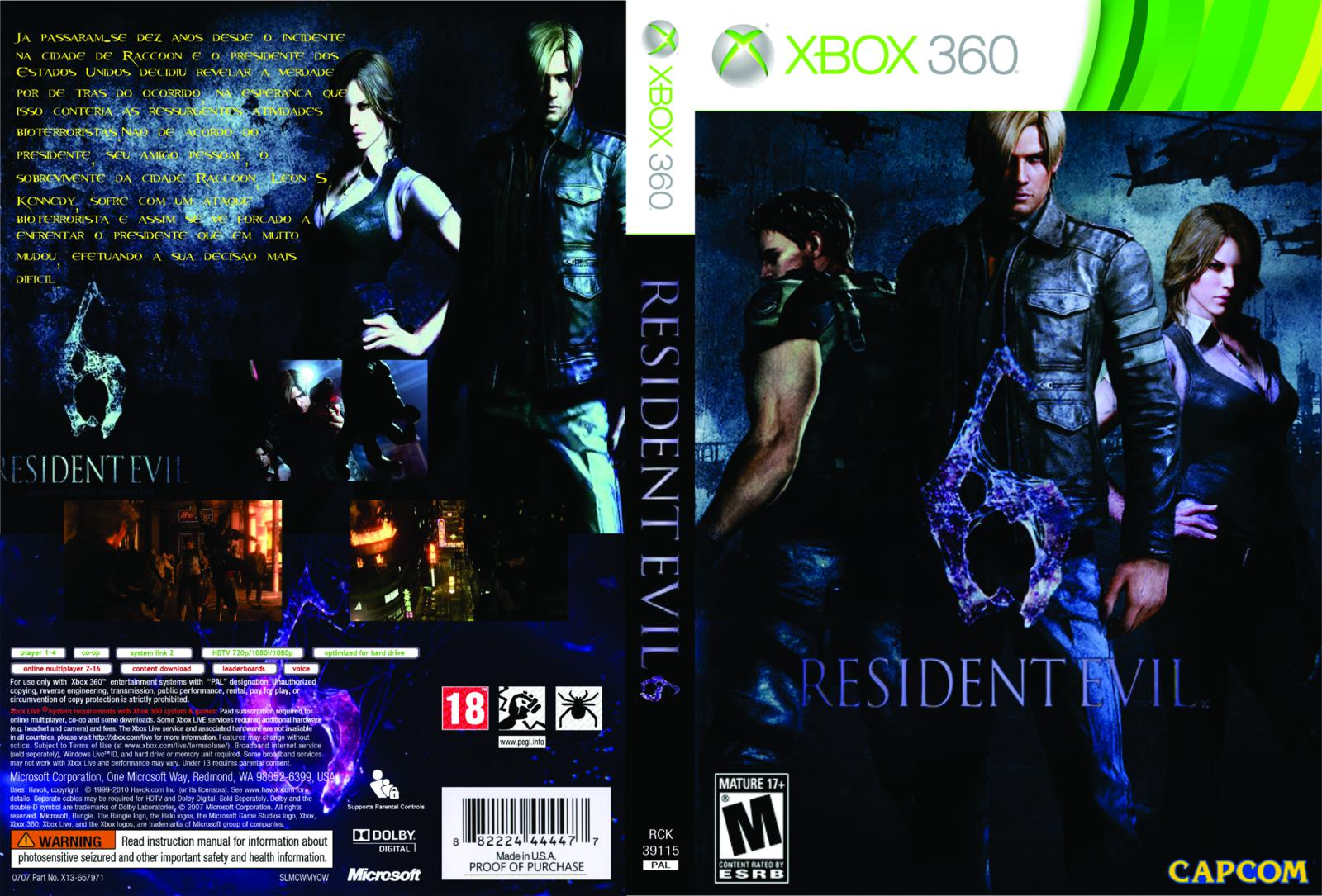 resident evil 6 xbox 360 gameplay