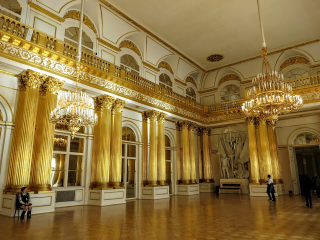 Ballroom inside the Hermitage in St. Petersburg, Russia