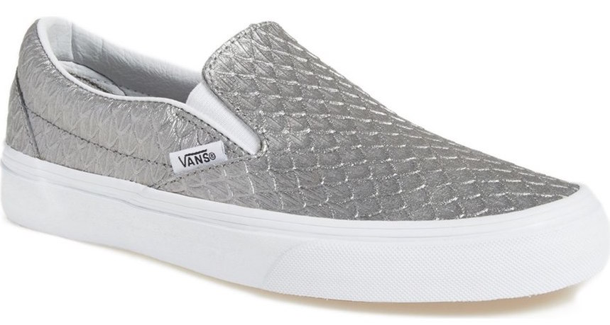 ef1645c4d80 Vans  Classic  Slip-On Sneaker (Women) (Sale   42.90. After Sale   64.95)   A classic slip-on sneaker is given a street-style update for a look that  will ...