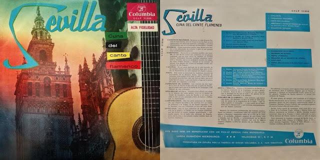 """JUAN TALEGA """"SEVILLA CUNA DEL CANTE FLAMENCO"""" (LP) COLUMBIA 1959"""