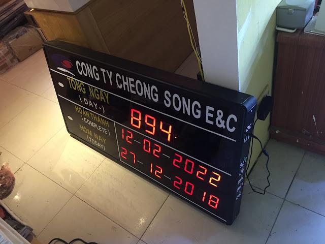 Đồng hồ đếm ngược tại dự án của công ty Cheong song E&C