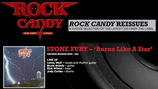 STONE FURY - Burns Like A Star [Rock Candy remastered] inside