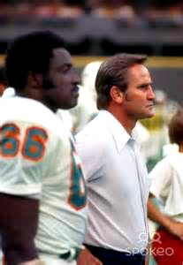 Larry Little Coach Don Shula Miami Dolphins