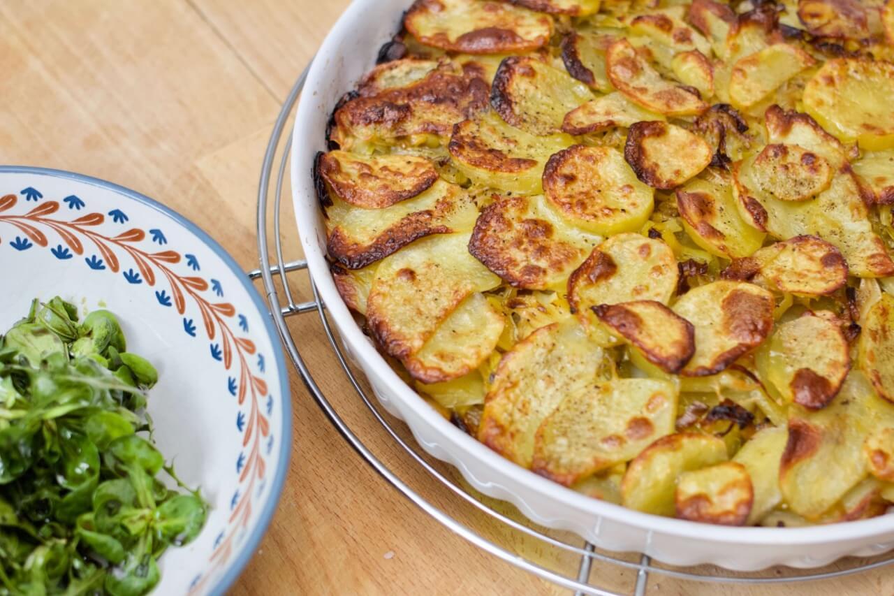 Rezept für eine knusprige Kartoffel Lauch Galette