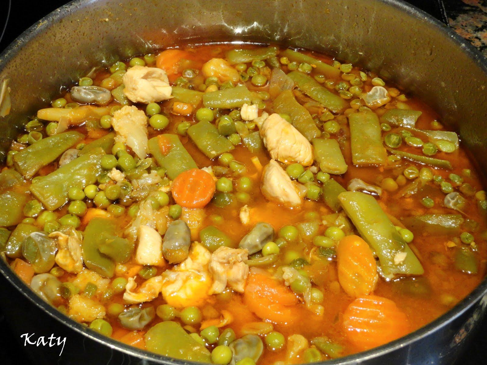 Para hincar el diente k m m k menestra de pollo - Como preparar menestra de verduras ...