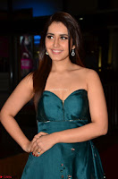 Raashi Khanna in Dark Green Sleeveless Strapless Deep neck Gown at 64th Jio Filmfare Awards South ~  Exclusive 042.JPG