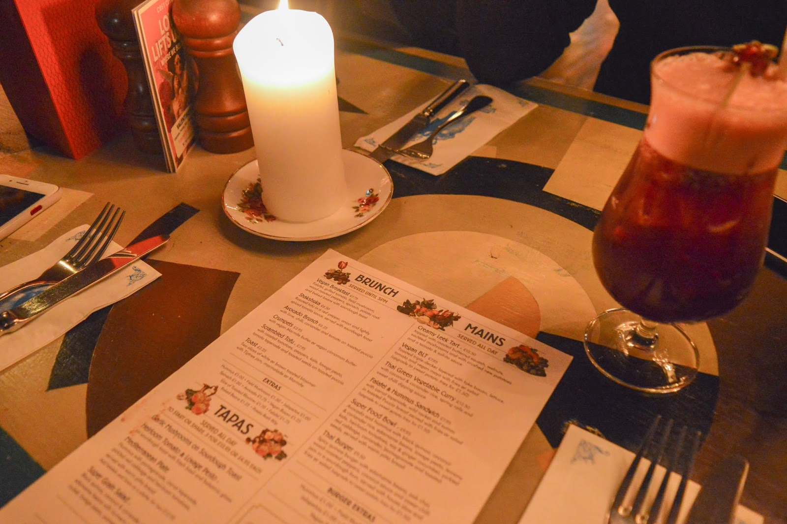 The Cosy Club Vegan Menu