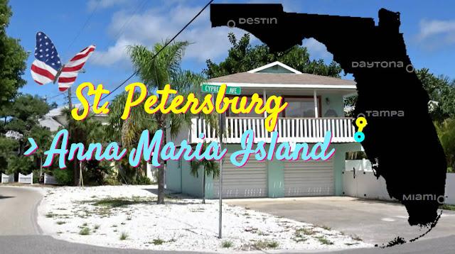 St Petersburg, Florida nach Anna Maria Island, Florida USA