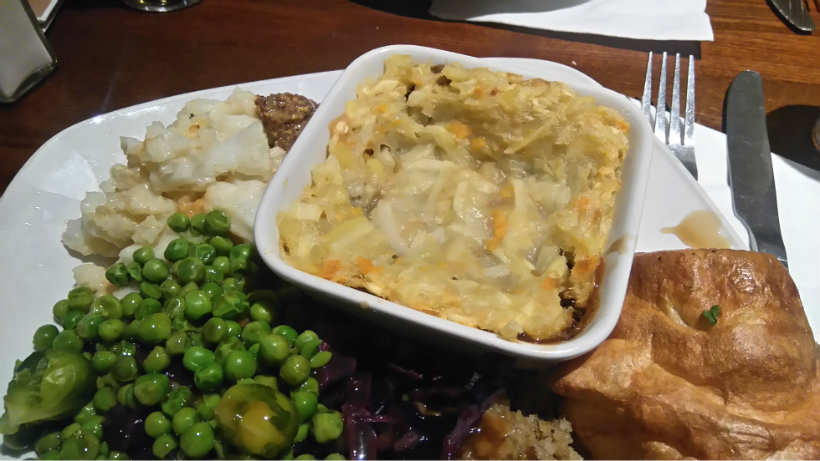 Toby Carvery Lentil Cottage Pie