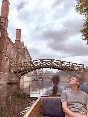 Punting under the mathematical bridge in Cambridge