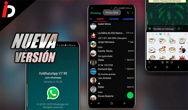 DESCARGAR YOWHATSAPP ULTIMA VERSION V 7.90 2019 APK para Android  Gratis YoWA V7.90