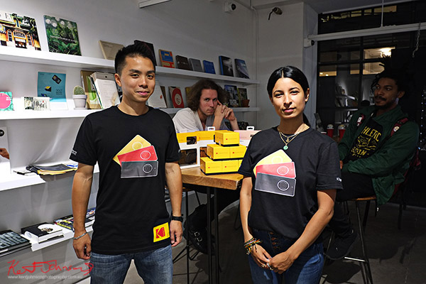 Protectors of the Kodak Ektra  boxes, Stories of Change art opening. Street Fashion Sydney, New York Edition photographed by Kent Johnson.