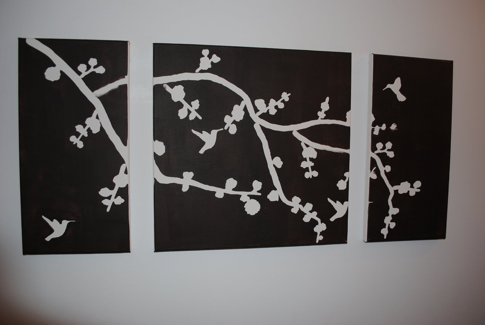 The crafty bee spring canvas art project diy for Big painting ideas