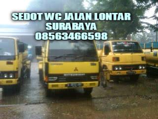 sedot wc jalan lontar surabaya