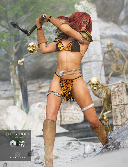 Battle Queen Outfit for Genesis 3 Female