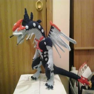 PATRON GRATIS DRAGON YU-GI-OH AMIGURUMI 30739