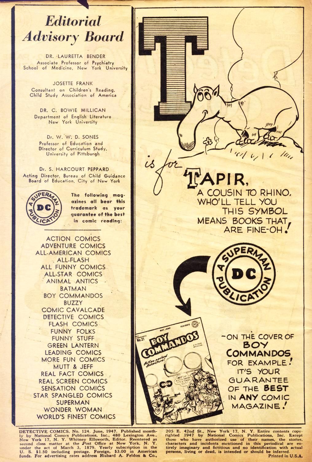 Detective Comics (1937) 124 Page 1