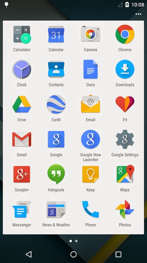Apex Launcher material design