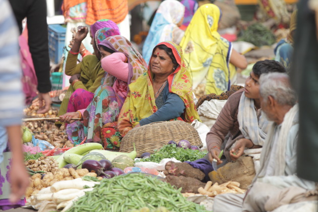 Local market scene at Orchha, Madhya Pradesh