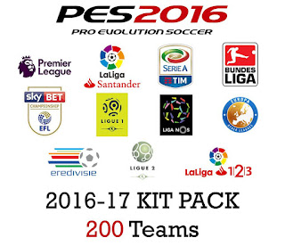 [PES 2016] 2016-17 Kitpack v4 (200 Teams)