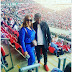 E-money And Wife Pictured In Wembly Stadium Watching England Vs Nigeria Match