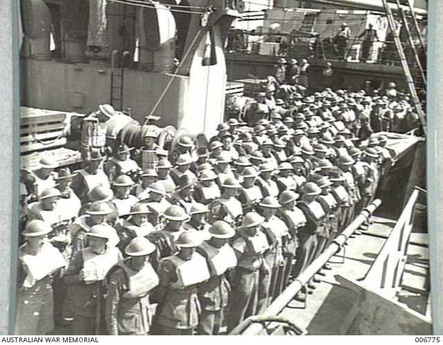 3 March 1941 worldwartwo.filminspector.com Australian troops lifeboat drill