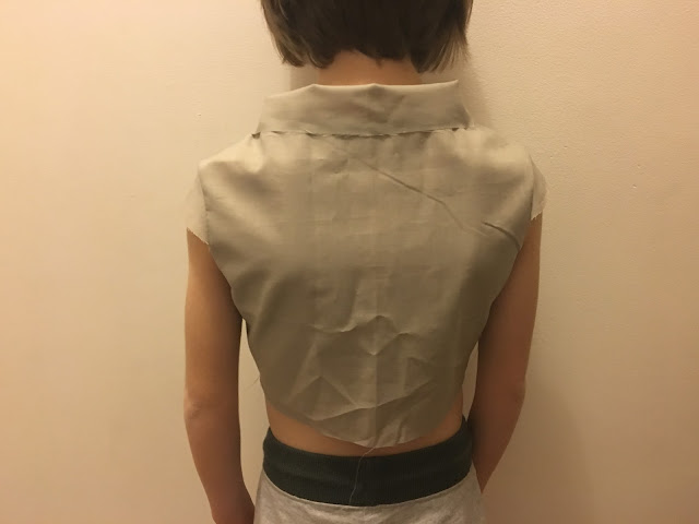 back bodice fitting after high rounded back adjustment
