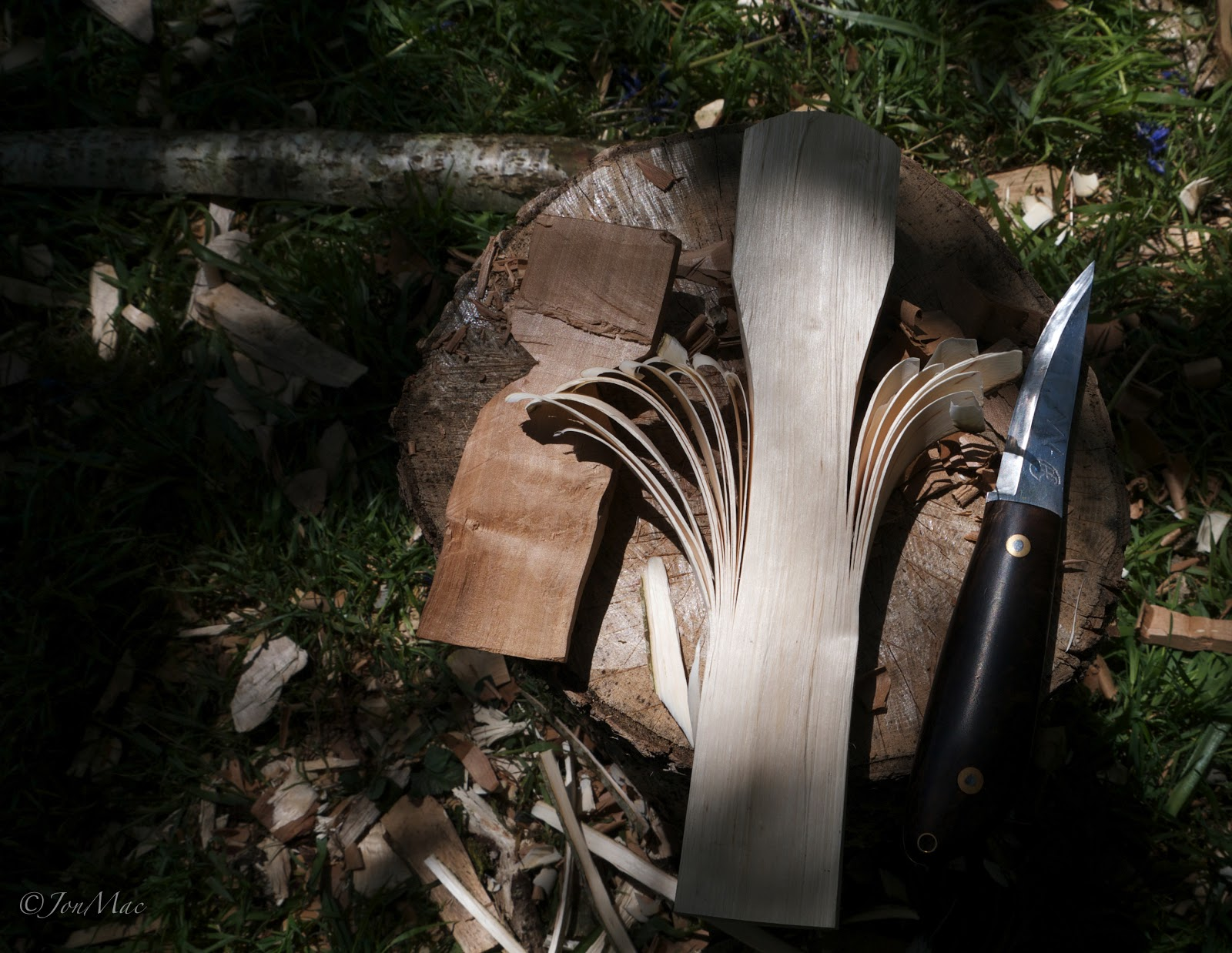 spoon blank+bushcraft knife+machris bushcraft knife