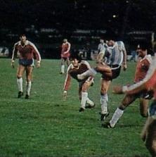 Argentina y Chile en partido amistoso, 14 de mayo de 1985